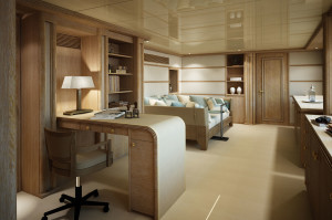 3D rendering interni, megayacht, by Motik.it