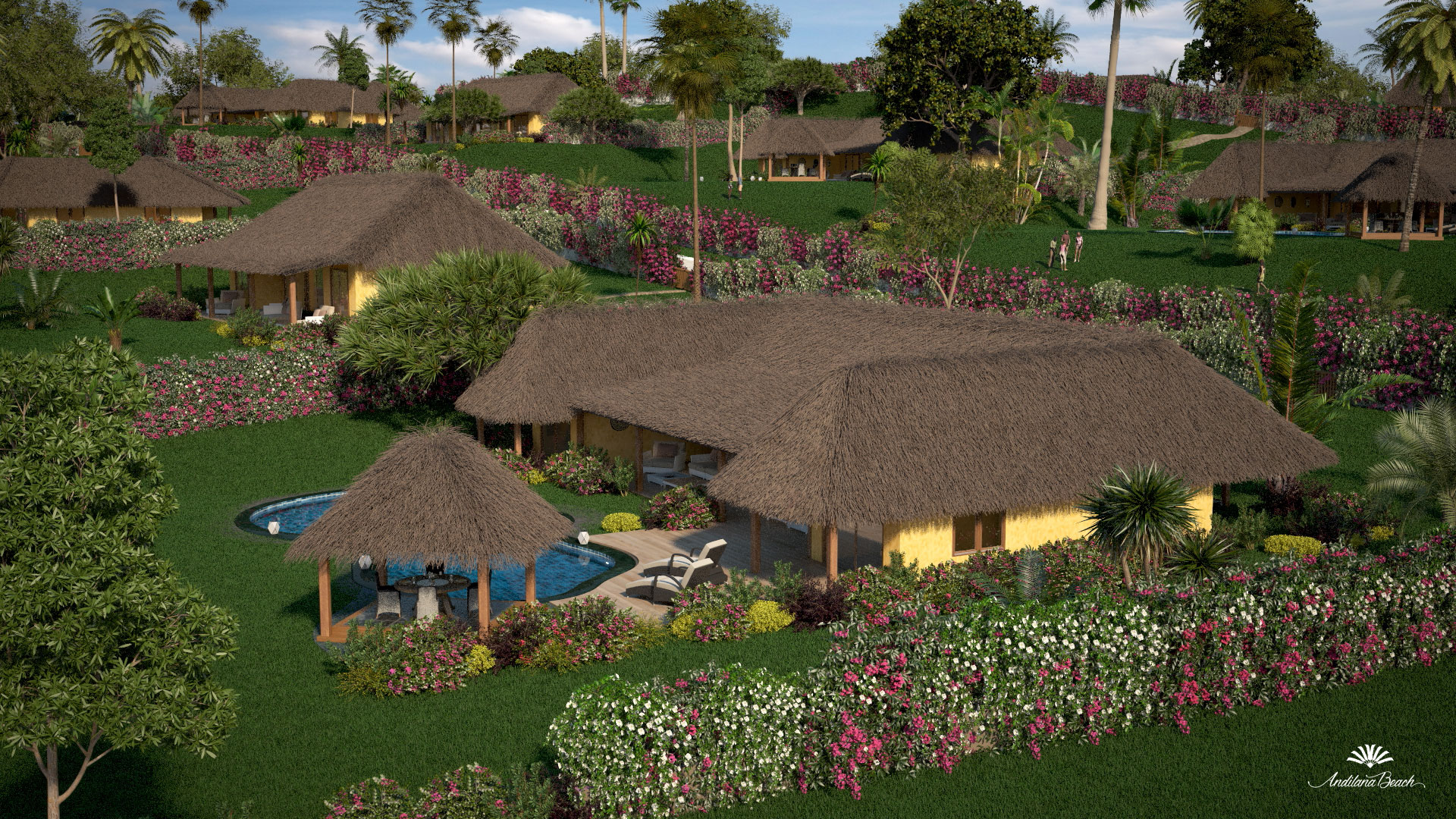 Animazione 3d di Motik per residenziale Andilana, Nosy  Be, Madagascar - img2